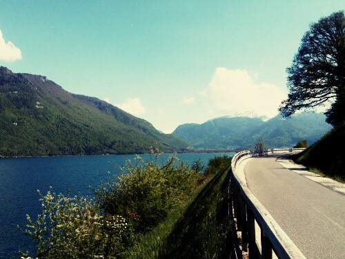 Riding Vintage Around Lake Annecy, France