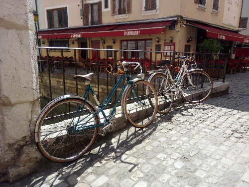 Cool Vintage Bikes in Vintage French Towns